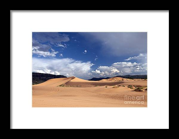 Dune Framed Print featuring the photograph Coral Pink Sand Dunes by Rick Pisio