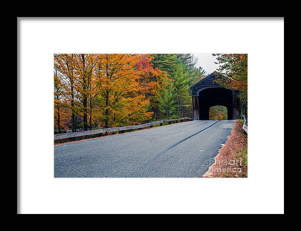 New Hampshire Framed Print featuring the photograph Corbin Covered Bridge New Hampshire by Edward Fielding