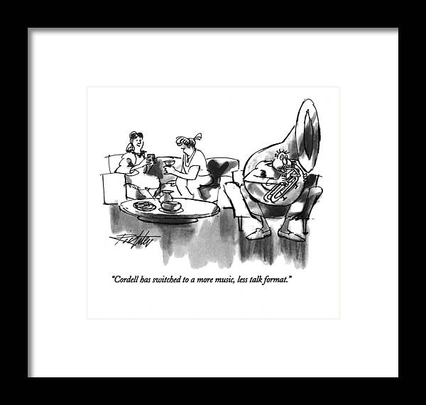 Relationships Framed Print featuring the drawing Cordell Has Switched To A More Music by Mischa Richter