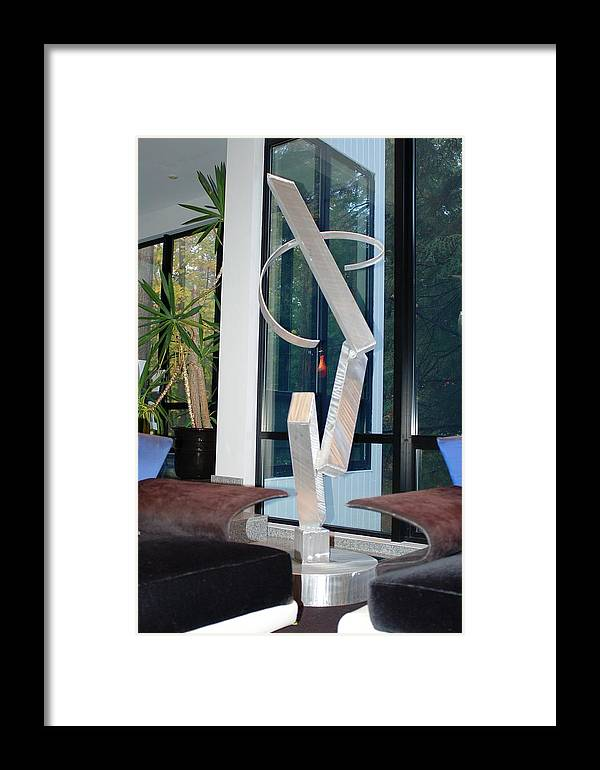 Welded Framed Print featuring the sculpture Core Of Self by Mac Worthington