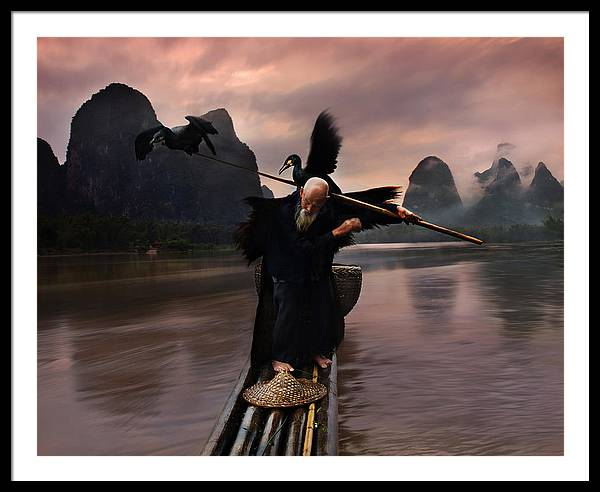 Cormorant Framed Print featuring the photograph Cormorant Show2 by Weerapong Chaipuck