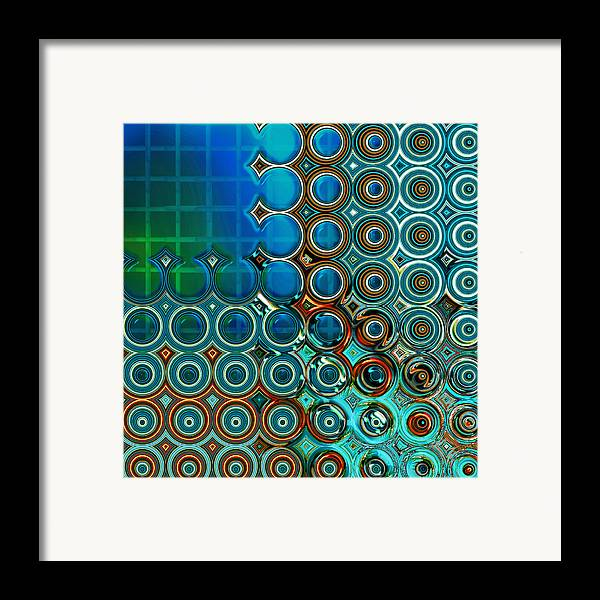 Abstract Framed Print featuring the digital art Cornered by Wendy J St Christopher