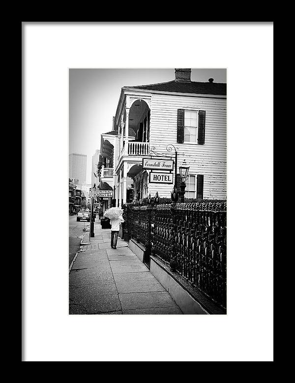Cornstalk Framed Print featuring the photograph Cornstalk Fence Hotel by Todd Hartzo