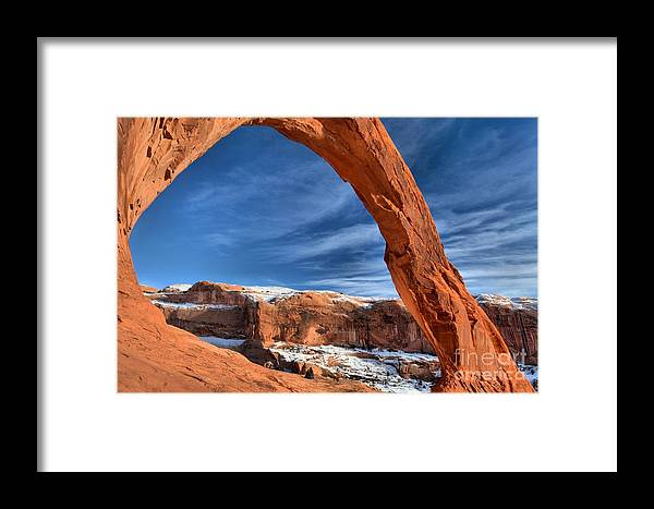 Coronoa Arch Framed Print featuring the photograph Corona Goggle by Adam Jewell