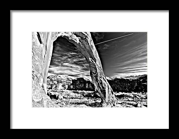 Coronoa Arch Framed Print featuring the photograph Corona In Black And White by Adam Jewell