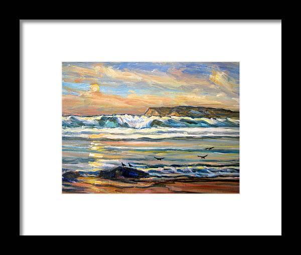 96d171645f Coronado Beach Sunset San Diego Framed Print by Robert Gerdes