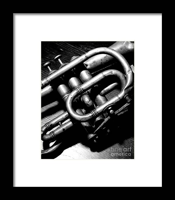 Louis Armstrong Framed Print featuring the photograph Coronet Solo Peices by Rick Salazar