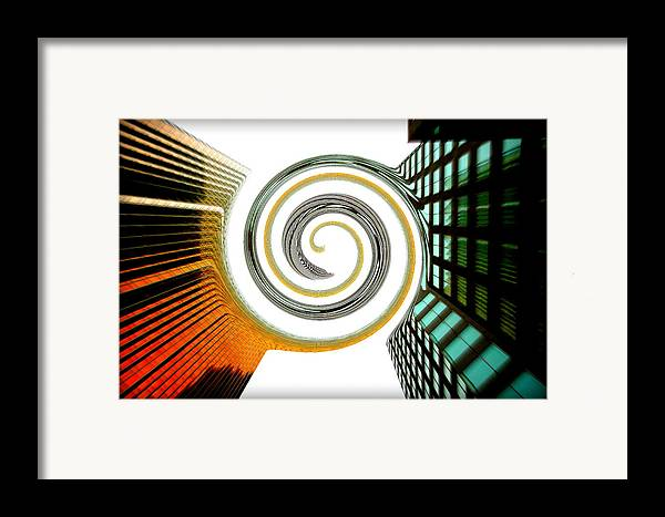 Merge Framed Print featuring the photograph Corporate Merging by Valentino Visentini