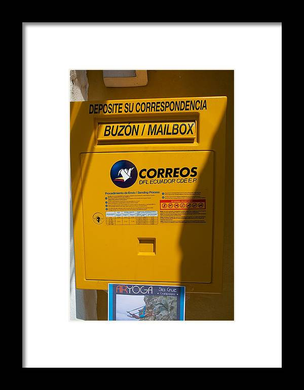 Mailbox Framed Print featuring the photograph Correos by Allan Morrison