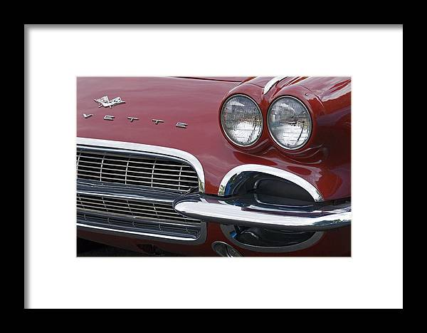Corvette Framed Print featuring the photograph Corvette by Wes and Dotty Weber