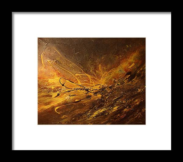 Universe Framed Print featuring the painting Cosmic Energy by Jo Smoley