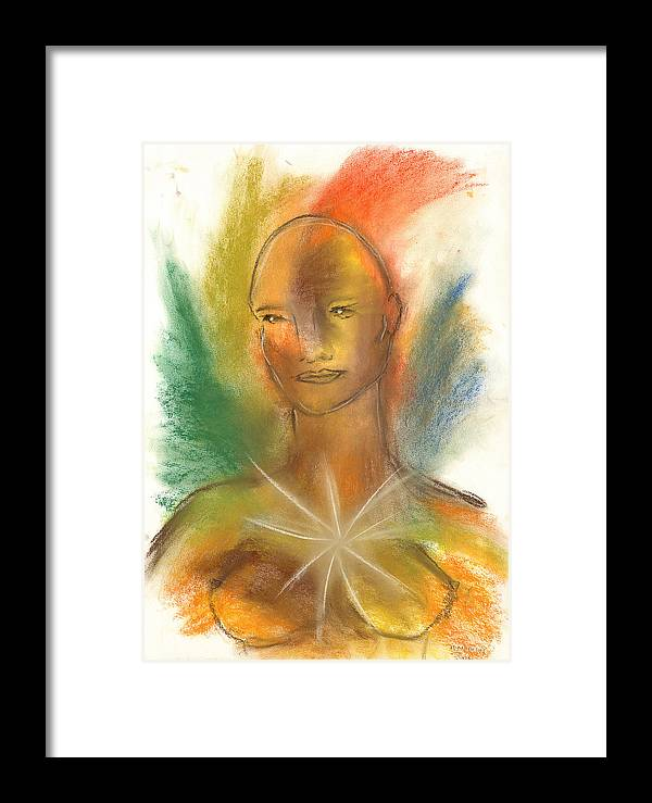 Woman Framed Print featuring the painting Cosmic Feminine by Roger Hanson