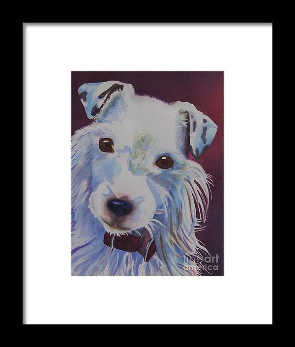 Dog Framed Print featuring the painting Cosmo by Amanda Schuster