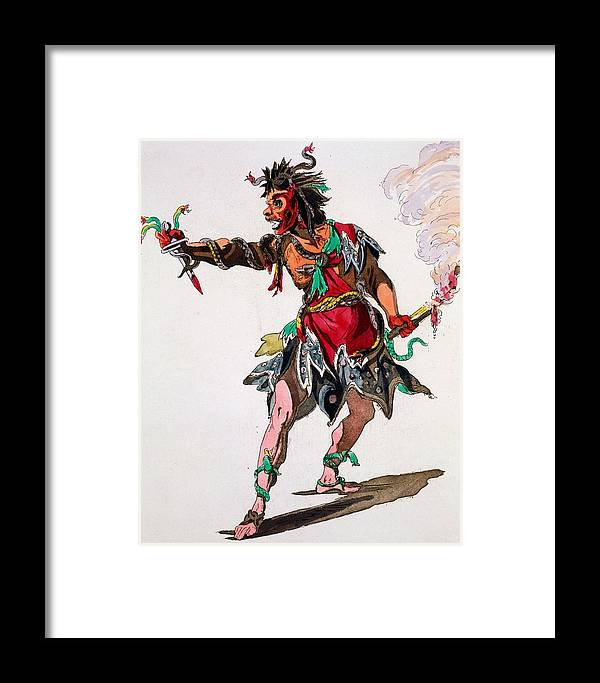 Costume Framed Print featuring the drawing Costume Design For A Fury by French School