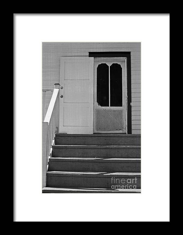 Cottage Framed Print featuring the photograph Cottage 5 Stair Steps Home by Ella Kaye Dickey
