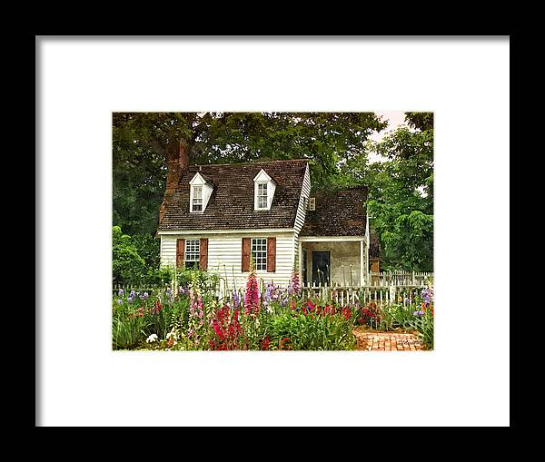 Cottage Framed Print featuring the painting Cottage by Shari Nees