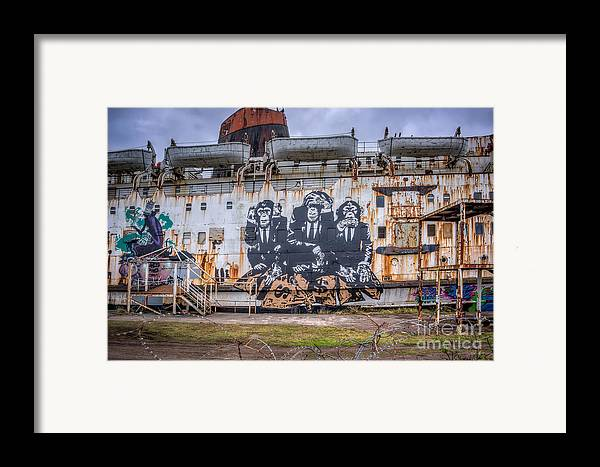 Abandoned Framed Print featuring the photograph Council Of Monkeys by Adrian Evans