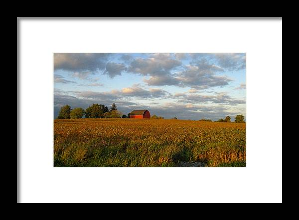 Landscape Framed Print featuring the photograph Country Backroad by Rhonda Barrett