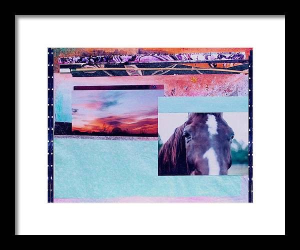 Horse Framed Print featuring the photograph Country Collage 4 by Mary Ann Leitch