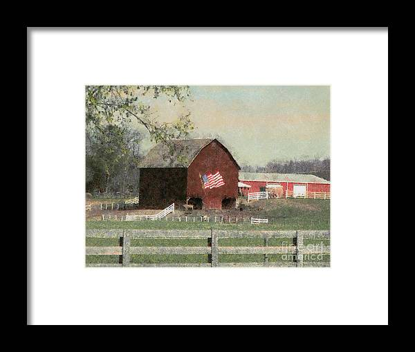 Farm Barn Framed Print featuring the painting Country Collectionone by Scott B Bennett