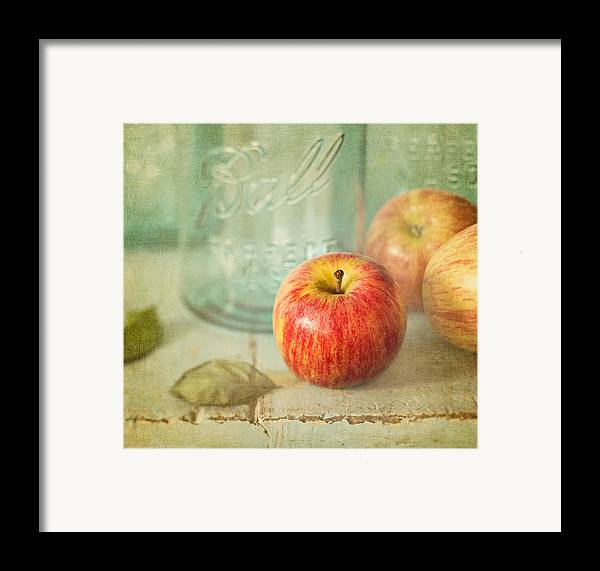 Apple Framed Print featuring the photograph Country Comfort by Amy Weiss