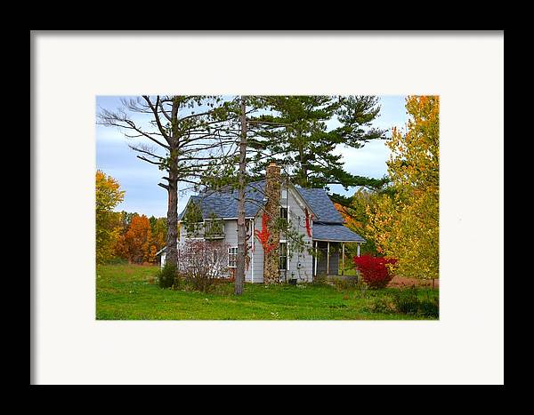 Country Cottage Framed Print featuring the photograph Country Cottage by Julie Dant
