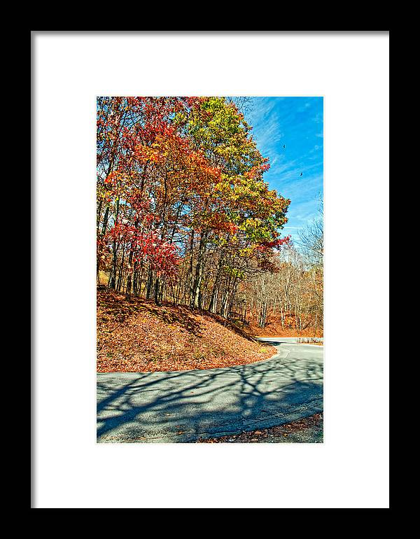 West Virginia Framed Print featuring the photograph Country Curves And Vultures by Steve Harrington