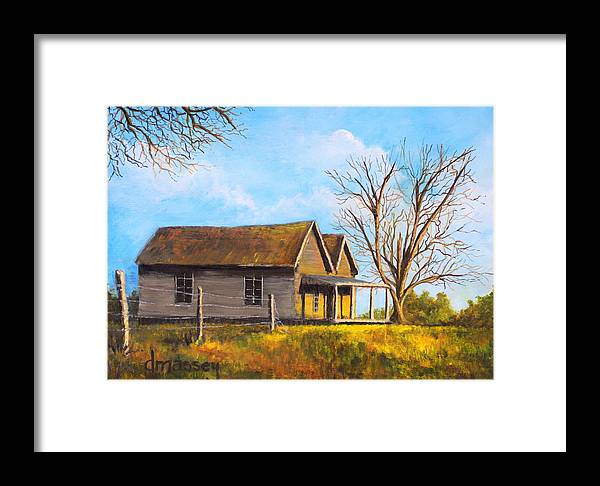 Country Framed Print featuring the painting Country Duplex by Donna Massey