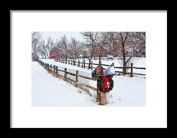 Christmas Framed Print featuring the photograph Country Holiday Cheer by Teri Virbickis