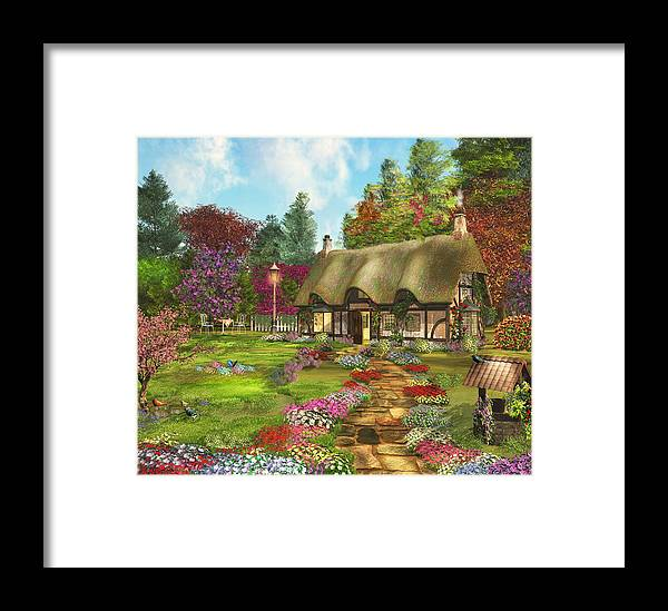 Art Licensing Framed Print featuring the mixed media Country Path by Caplyn Dor