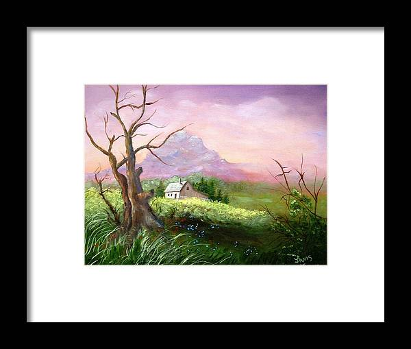 Country Scene Framed Print featuring the painting Country Peace by Janis Tafoya