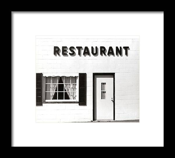 Restaurant Framed Print featuring the photograph Country Restaurant by Thomas Marchessault