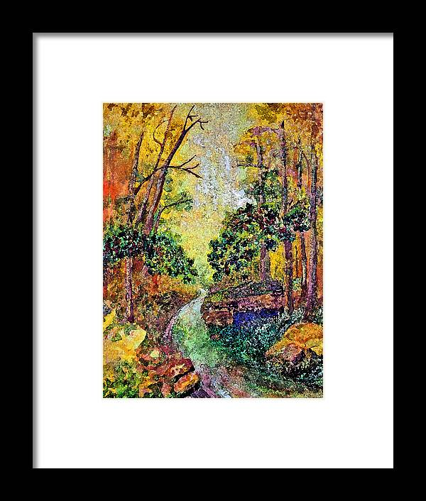 Landscape Framed Print featuring the painting Country Road by Anne Hamilton