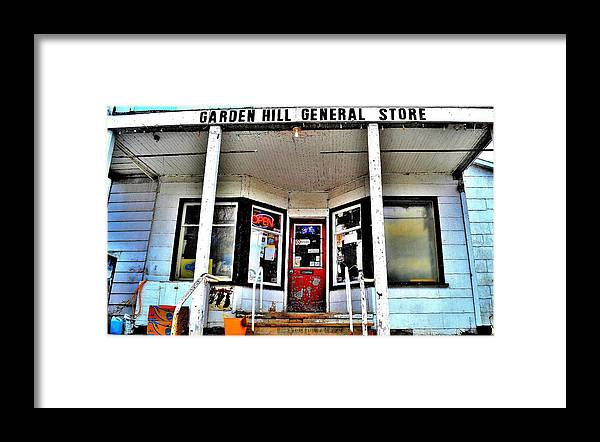 Store Front Framed Print featuring the photograph Country Road Store - Canada by Jeremy Hall