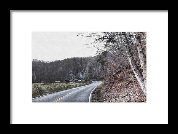 Hdr Framed Print featuring the photograph Country Road Take Me Home Photo by Sherri Duncan