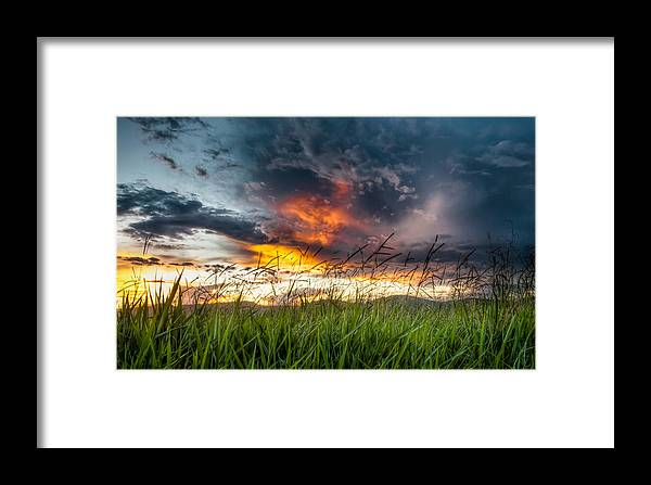 Country Framed Print featuring the photograph Country Sunset In Valenca - Brazil by Igor Alecsander