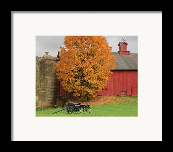 Bucolic Framed Print featuring the photograph Country Wagon by Bill Wakeley