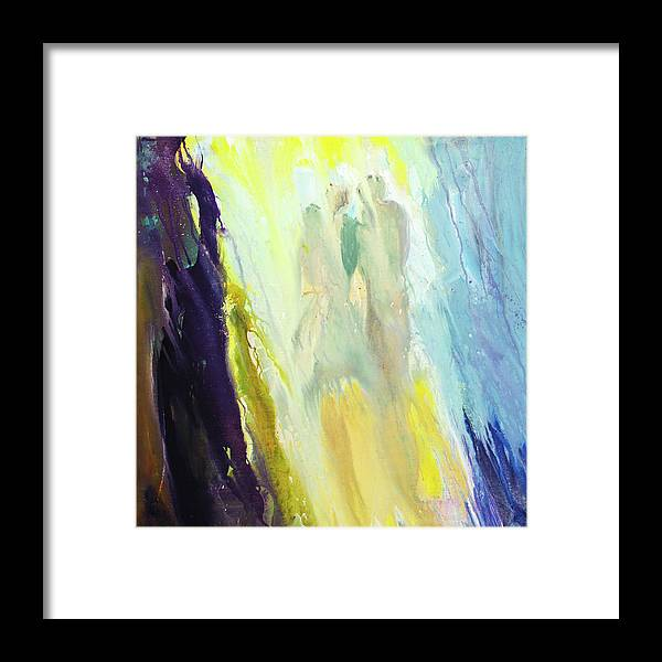 Art Framed Print featuring the digital art Couple by Balticboy