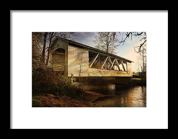 Bridge Framed Print featuring the photograph Covered Bridge by Wes and Dotty Weber