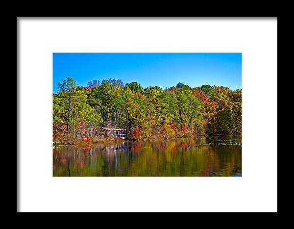 Fall Framed Print featuring the photograph Covered Bridge by Kevin Jarrett