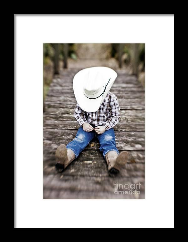 Cowboy Framed Print featuring the photograph Cowboy by Scott Pellegrin
