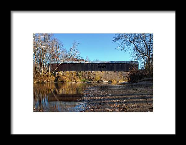 Parke County Indiana Framed Print featuring the photograph Cox Ford Bridge by Thomas Sellberg