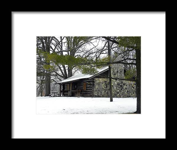 Cabin Framed Print featuring the photograph Cozy Cabin by Teresa Schomig