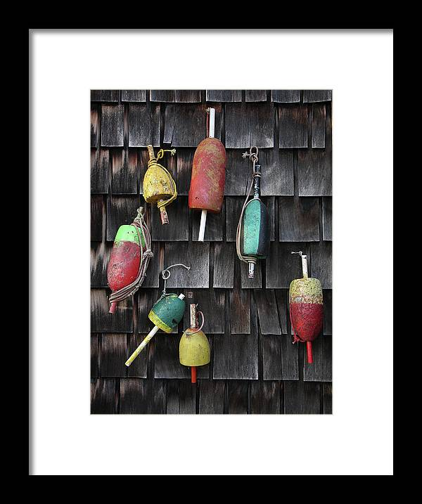 Cedar Tree Framed Print featuring the photograph Crab Pot Floats by Photo By Wayne Bierbaum; Annapolis, Maryland