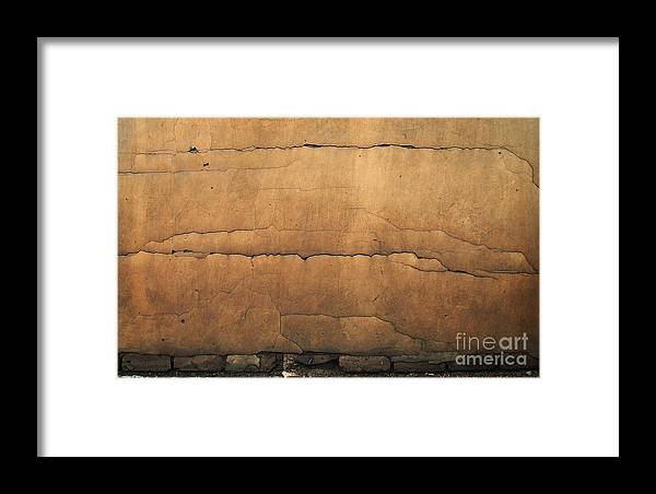 Cracked Wall Framed Print featuring the photograph Cracked Wall by Jolanta Meskauskiene
