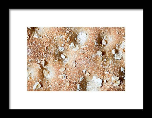 Crispbread Framed Print featuring the photograph Cracker With Oats by Jim Pruitt
