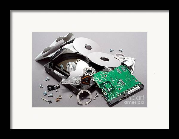 Computer Framed Print featuring the photograph Crashed by Olivier Le Queinec