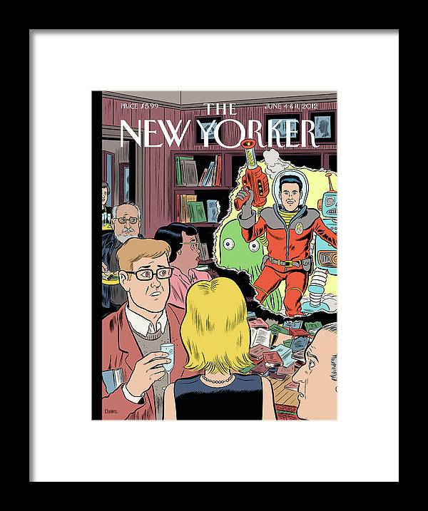 Crashing The Gate Framed Print featuring the painting Crashing The Gate by Daniel Clowes