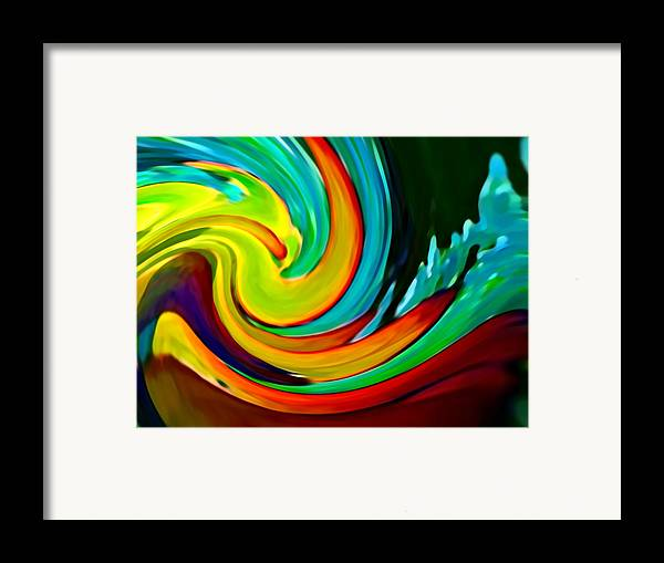 Waves Framed Print featuring the painting Crashing Wave by Amy Vangsgard