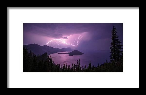 Crater Storm Framed Print featuring the photograph Crater Storm by Chad Dutson